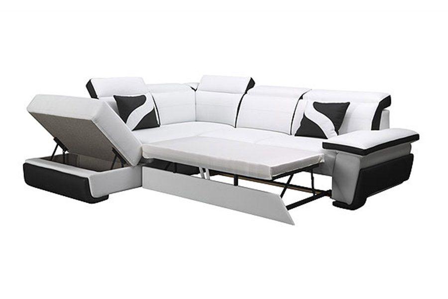 canape-d-angle-convertible-design-droite-cuir-pu-noir-et-blanc-zoe - Copie